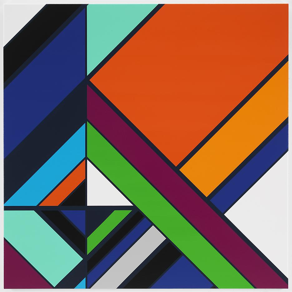 <i>João Goulart [Rio]</i> 2013 Household gloss paint on canvas 60.04 x 60.04 inches 152.5 x 152.5 cm