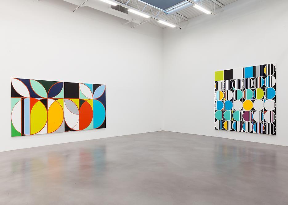 Sarah Morris <i>Academia Militar</i> Installation view 13 2013