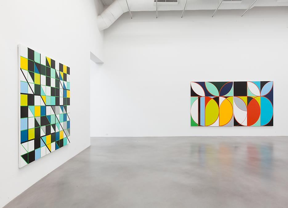 Sarah Morris <i>Academia Militar</i> Installation view 18 2013