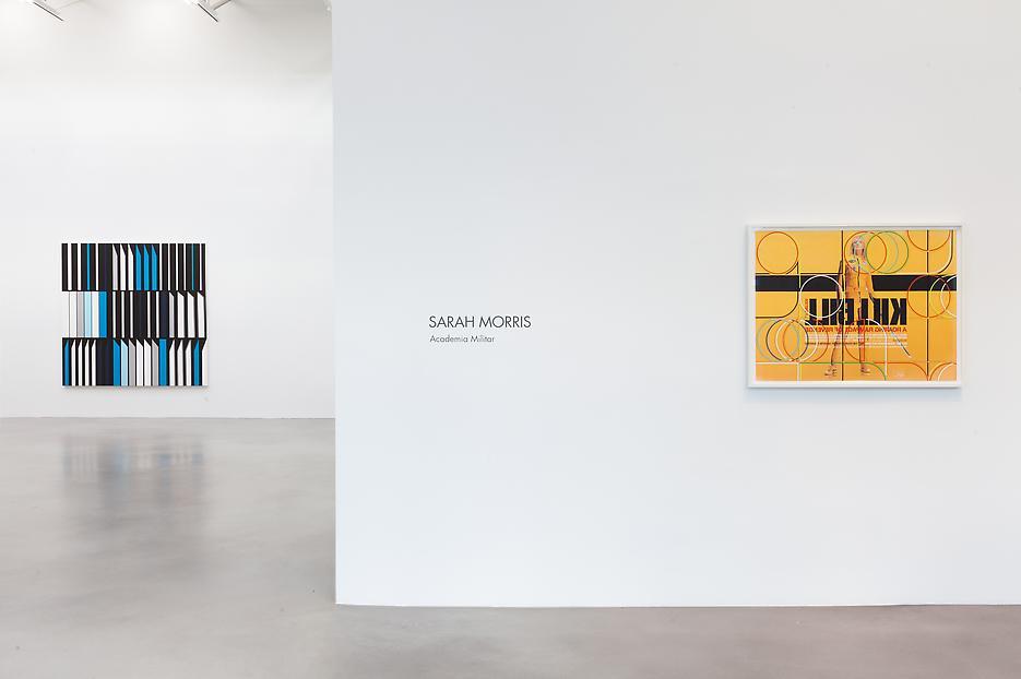 Sarah Morris <i>Academia Militar</i> Installation view 1 2013