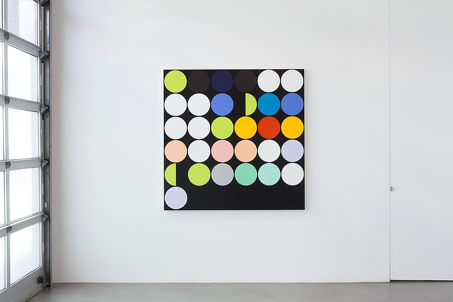 Sarah Morris <i>Academia Militar</i> Installation view 2 2013