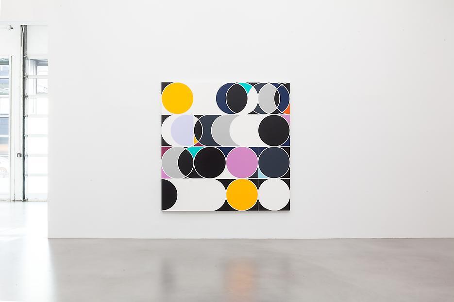 Sarah Morris <i>Academia Militar</i> Installation view 4 2013