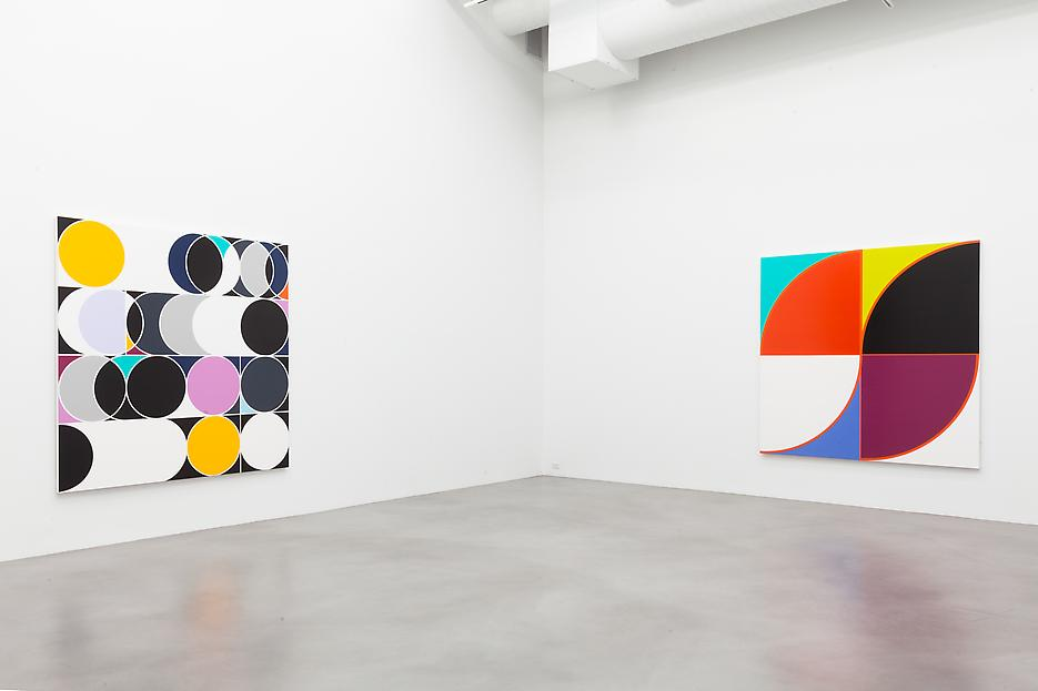 Sarah Morris <i>Academia Militar</i> Installation view 5 2013