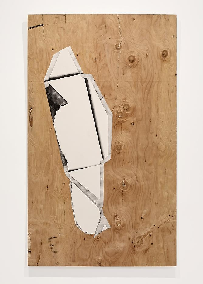 Seth Price <i>Black Letter</i> 2012 Mixed media on plywood