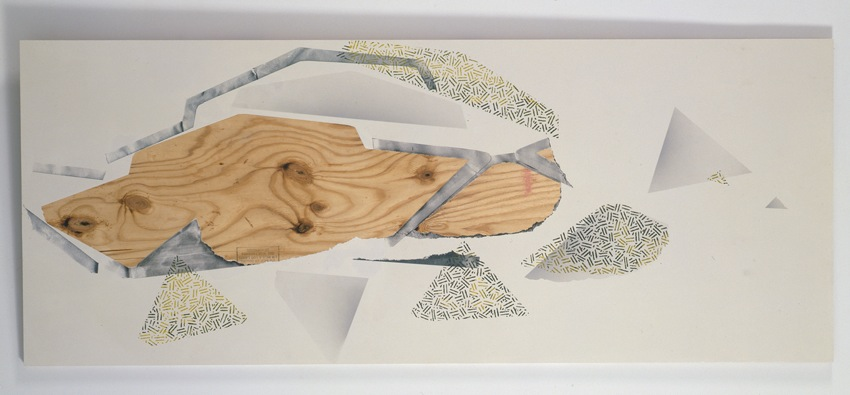 Seth Price Terminal Diagram 2012 Mixed media on plywood