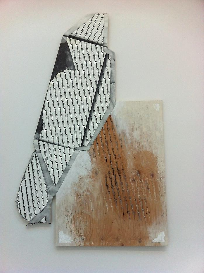 Seth Price <i>As Milk Tipped from This Realm to the Next</i> 2012 Mixed media on plywood