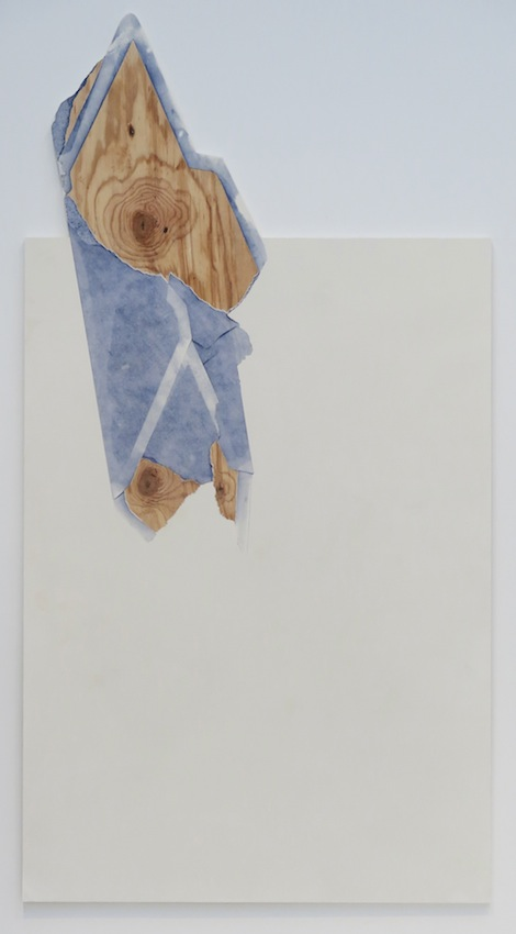 Seth Price <i>As A Collar</i> 2012 Mixed media on plywood