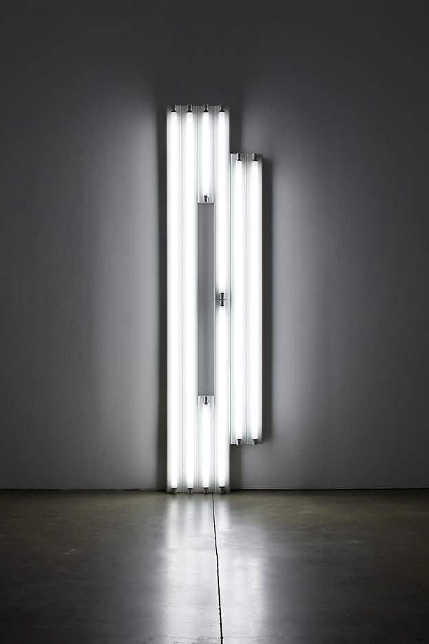 Dan Flavin <i>Untitled (Monument for V. Tatlin)</i> 1967 Cool white fluorescent light 96 x 24 x 4 1/4 inches