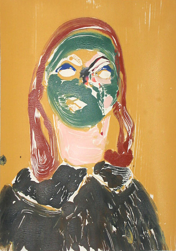 Portrait Head #11 2002					 acrylic on paper 20 x 14 inches/50.8 x 35.6 cm