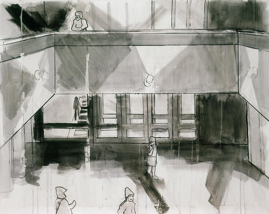 Thomas Eggerer Drawing for Mezzanine Painting