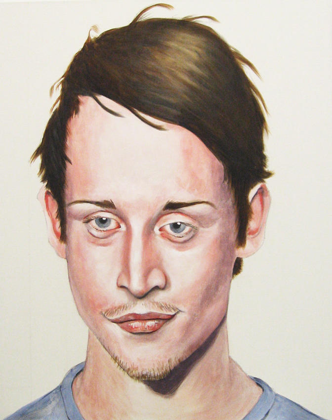 <i>Home Alone All Grown Up</i> 2008 Oil on linen 35 x 28 inches