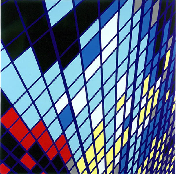Midtown-SOLO (9W57) 1999 gloss household paint on canvas 84 x 84 inches/213.4 x 213.4 cm