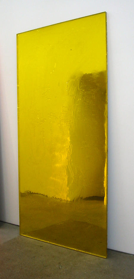 Pae White: Sloppy Galaxy, Yellow 2003 Plexiglas and solvent 96 x 48 inches/243.8 x 121.9 cm