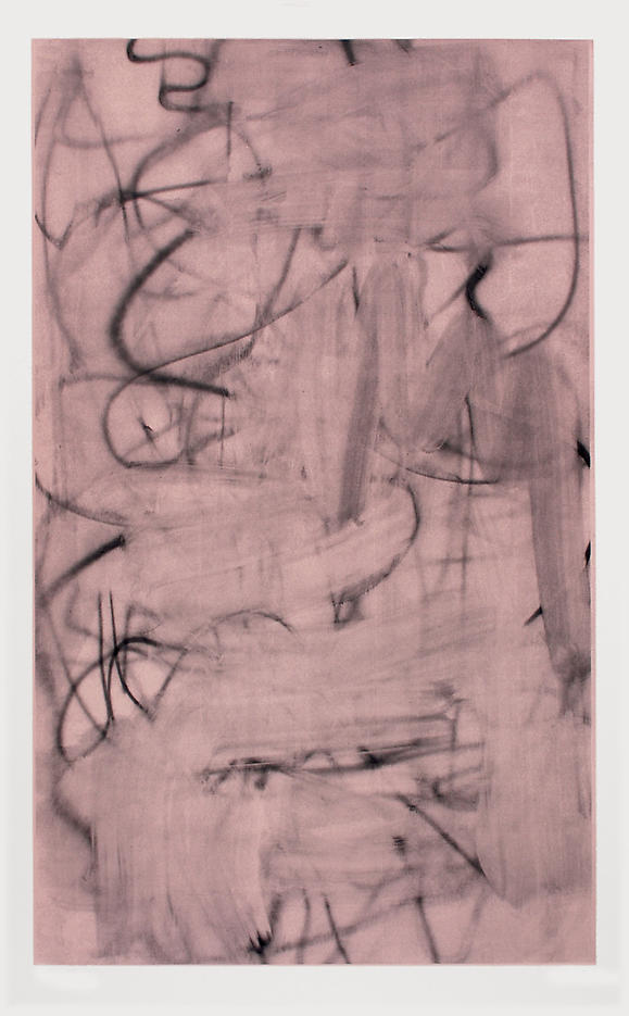 Christopher Wool: Three Women (Image III – dark rose) 2006, edition of 9, 3 AP silkscreen on saunders watercolor paper 410g 81.5 x 50 inches/207 x 127 cm