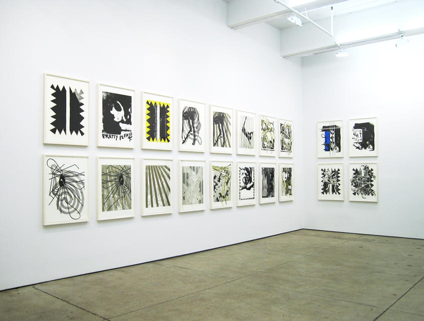 Works on Paper Friedrich Petzel Gallery Installation 2007