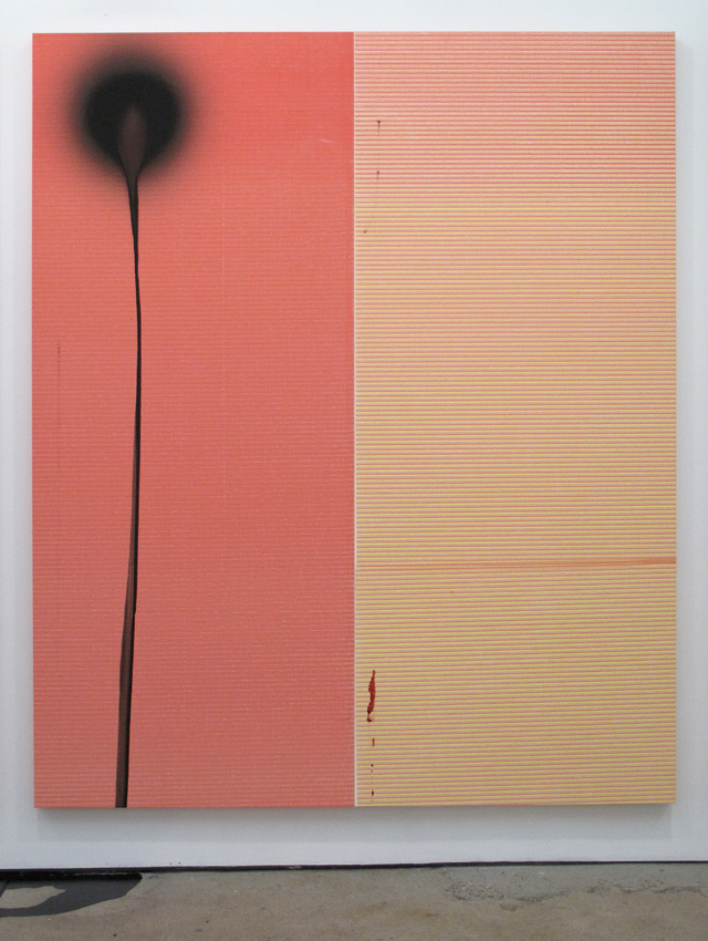 Wade Guyton/ Stephen Prina Wade Guyton, Untitled, 2011, Epson UltraChrome inkjet on linen Stephen Prina, PUSH COMES TO LOVE, Untitled, 1999 - 2011 2011