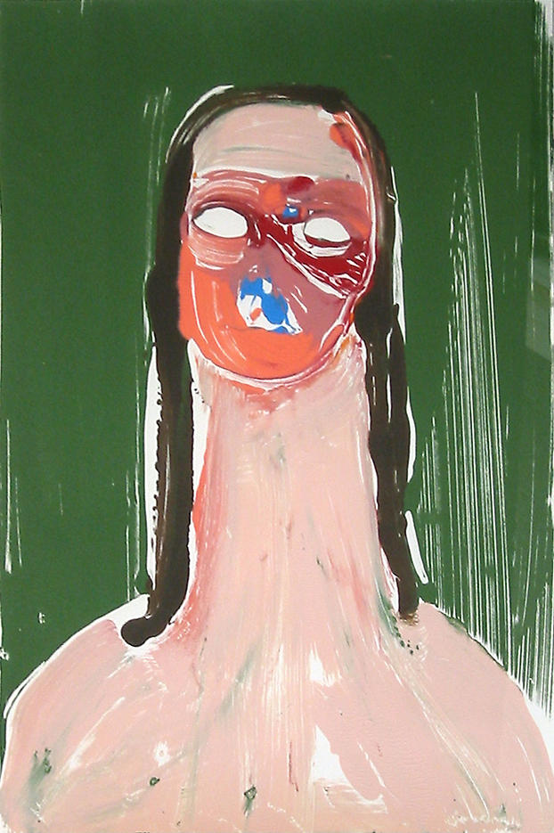 Portrait Head #1 2002				 acrylic on paper 20 x 14 inches/50.8 x 35.6 cm
