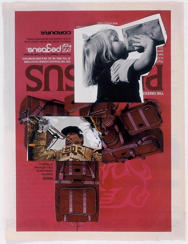 Untitled 2004 collage 10.83 x 8.27 inches/27.5 x 21 cm
