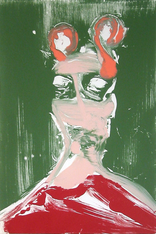 Large Head #1 2002					 acrylic on paper 20 x 14 inches/50.8 x 35.6 cm