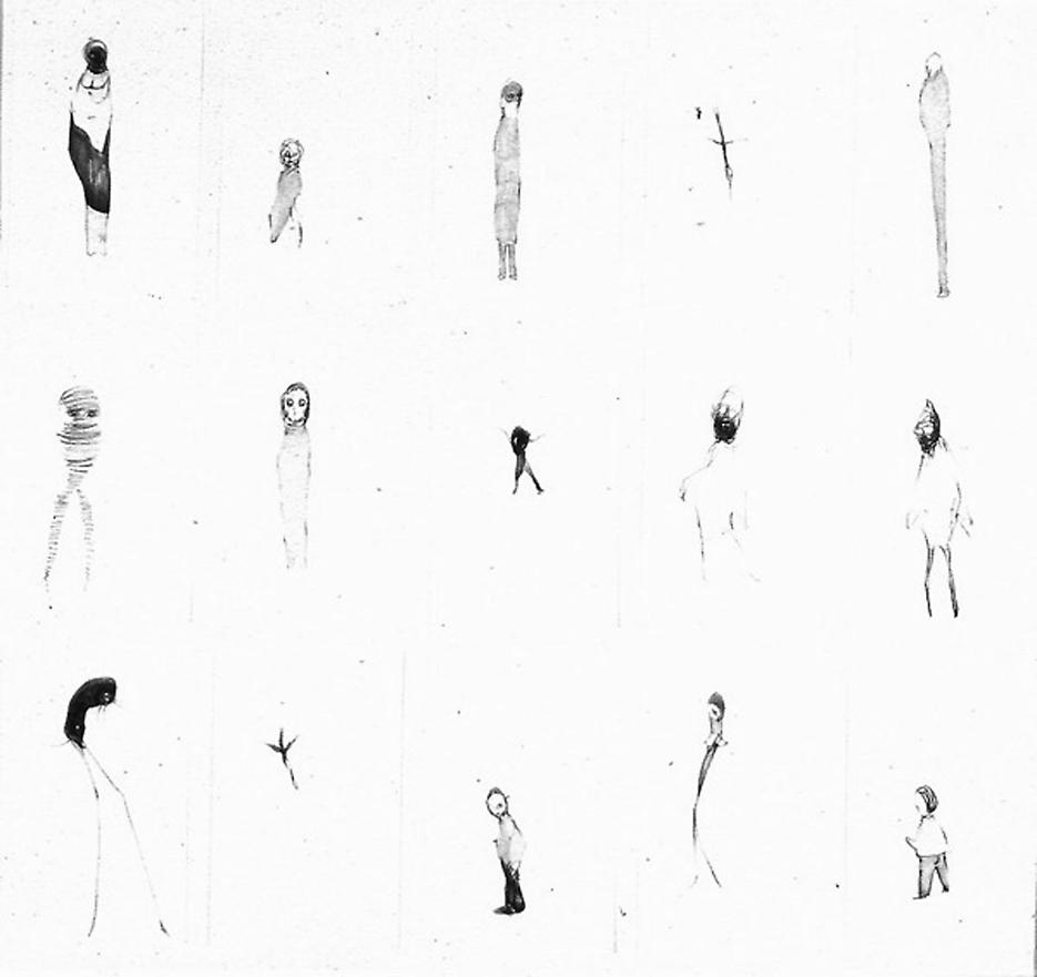 Group # 15 1994 graphite on paper, set of 15 drawings 30.5 x 33.5 inches/77.5 x 85.1 cm
