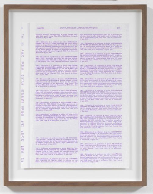 Jorge Pardo <i>Untitled #7 Pierre Huyghe</i> 2008 Silkscreen on paper  59 x 43,6 cm