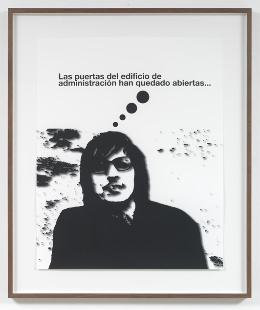 Jorge Pardo <i>Untitled #3 Liam Gillick</i> 2008  Silkscreen on inkjet on paper  101 x 80 cm