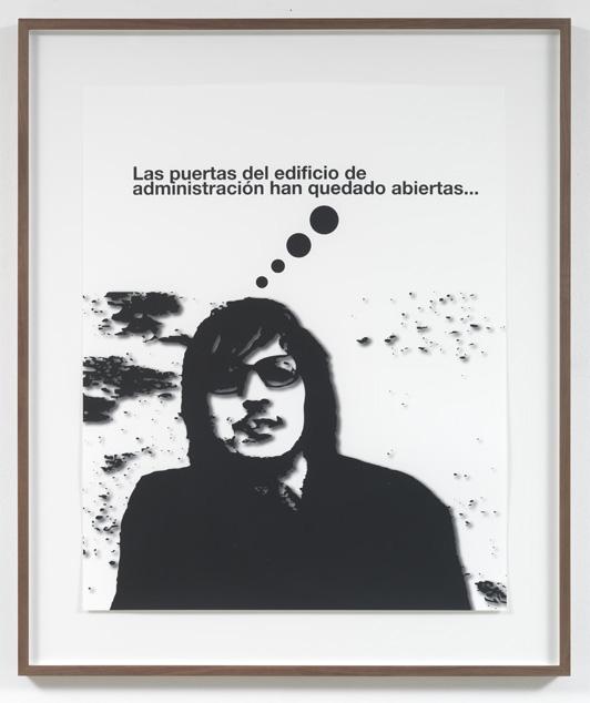 Jorge Pardo <i>Untitled #3 Liam Gillick</i> 2008  Silkscreen on inkjet on paper  101 x 80 cm