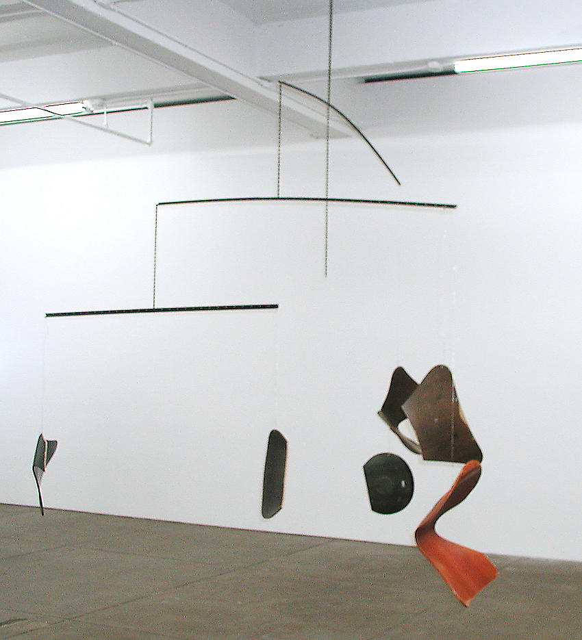 Martin Boyce: It was summer now Its Autumn 2003 painted steel, chain, wire, altered Jacobsen series 7 chairs 130 x 148 x 76 inches/330.2 x 375.9 x 193 cm