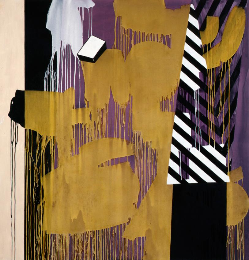 <i>It's Vot's Behind Me That I Am (Krazy Kat)</i> 2010 Acrylic, oil on linen and canvas 82 x 72 inches