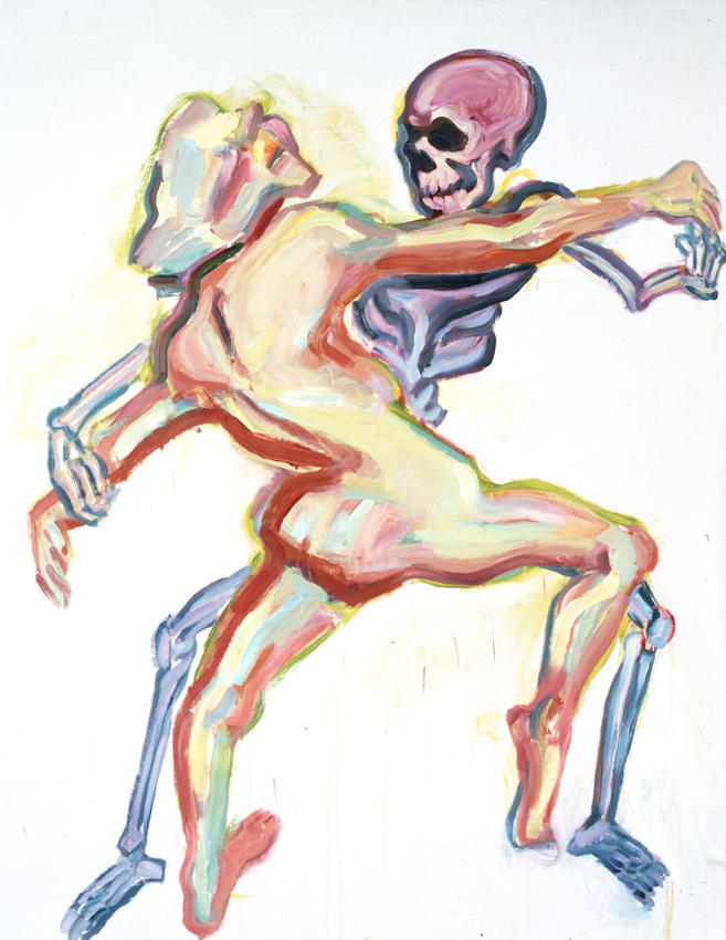 Der Tod und das Maedchen (Death and the Girl) 1999 oil on canvas 78.74 x 61.02  inches/200 x 155 cm