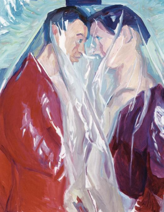 Couple (Paar) 2005 Oil on canvas 49.21 x 39.37  inches