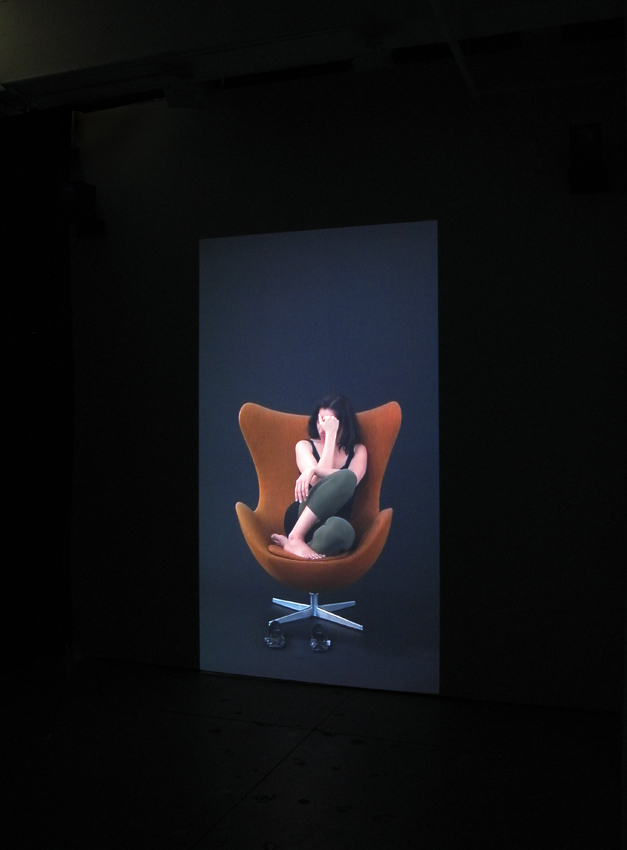Andrea Fraser <i>Projection</i> Installation view Friedrich Petzel Gallery 2009