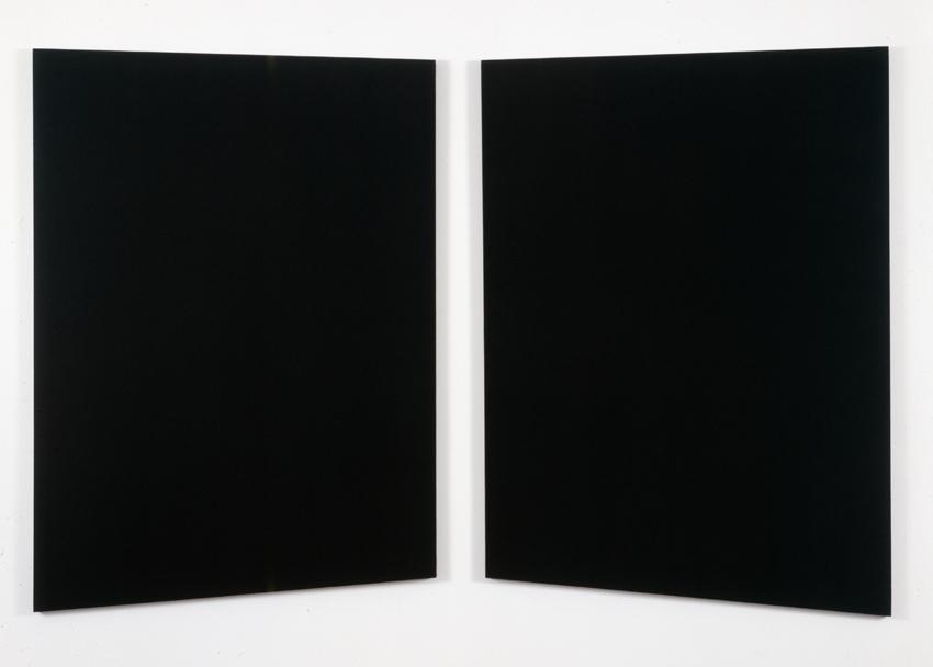 Untitled  1994 Black canvas 62 x 98 inches