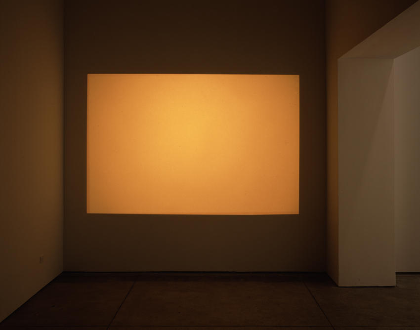 <i>Orange (projection on left wall)</i> 2004 Sequence of 81 35 mm color slides Dimensions variable