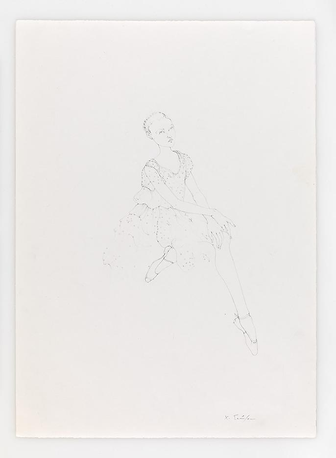 Sitting Dancer 2010 Pencil on paper 20.87 x 14.96 inches