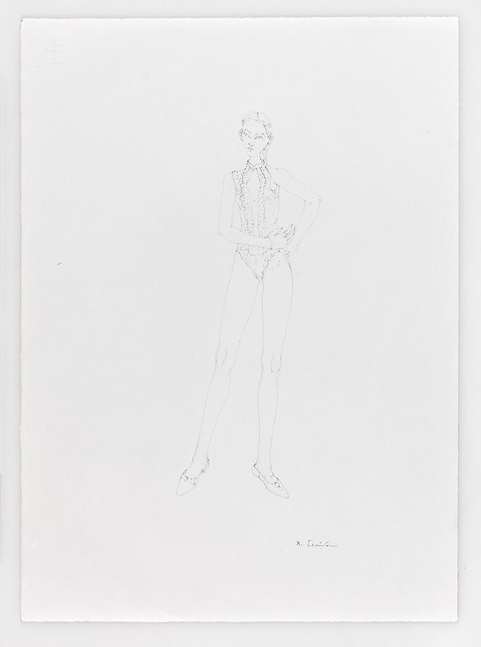 Little Dots Dancer 2010 Pencil on paper 20.87 x 14.96 inches