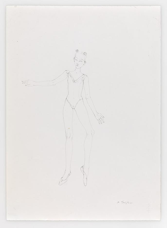 Double Rose Dancer 2010 Pencil on paper 20.87 x 14.96 inches