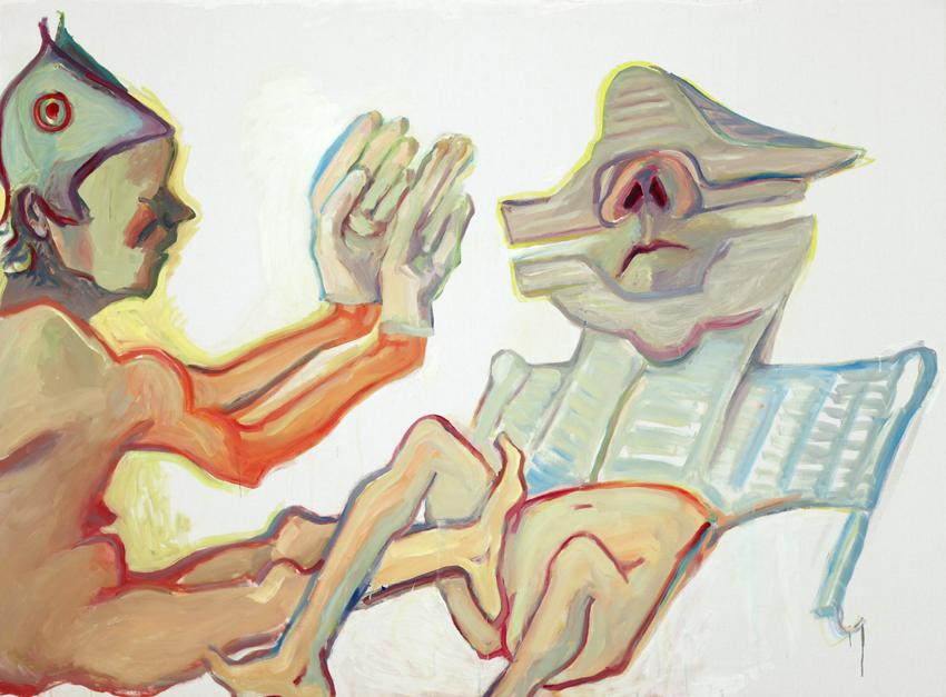 <i>Fraternite</i> 2008 Oil on canvas 59.06 x 78.74  inches