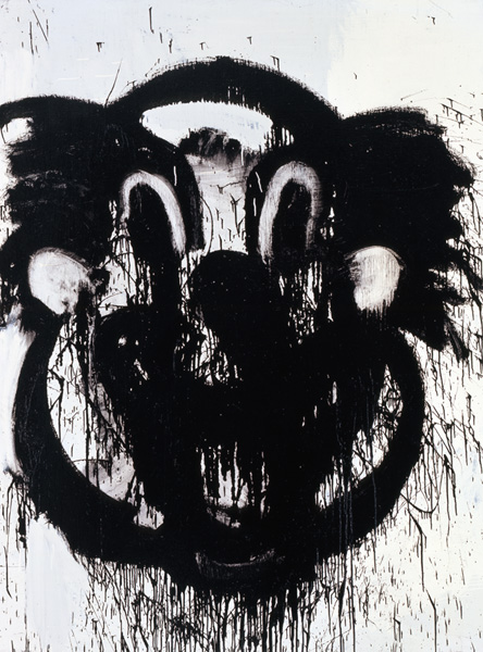 JOYCE PENSATO French Clown 2005 Enamel on linen 96 x 72 inches, 243.8 x 182.9 cm