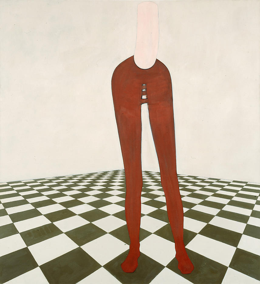 Figure on Tiled Floor 1997 oil on linen 72 x 66 inches/182.9 x 167.6 cm