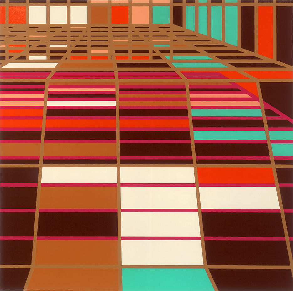 Pools - Nassau Suite [Miami] 2003 household gloss on canvas 84.25 x 84.25 inches/214 x 214 cm