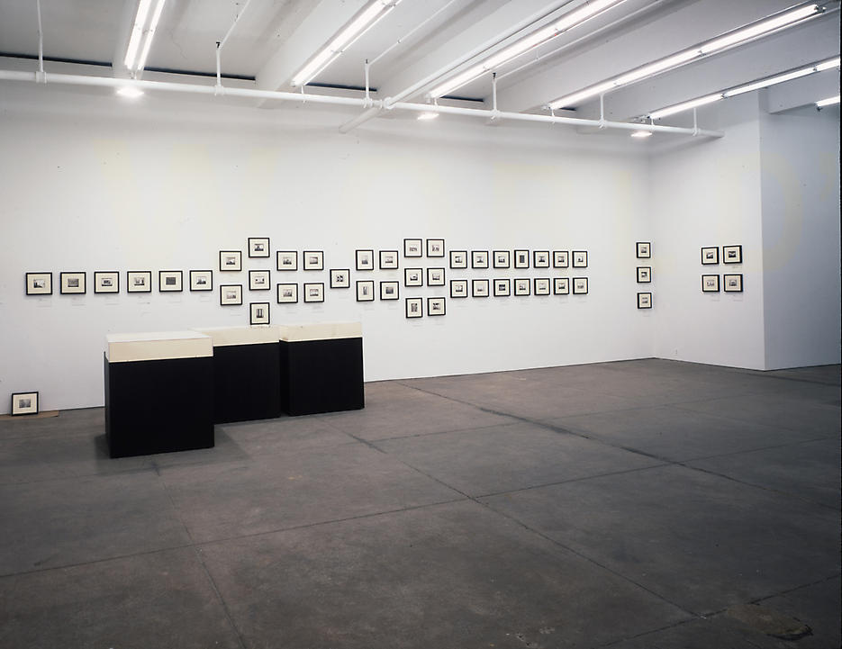 Galerie Max Hetzler, 1991, (Ten Years After) Friedrich Petzel Gallery Installation 2001