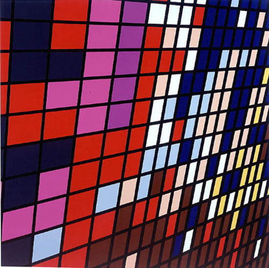 Midtown- Armitron (Madison Square Garden) 1999 gloss household paint on canvas 84 x 84 inches/213.4 x  213.4 cm