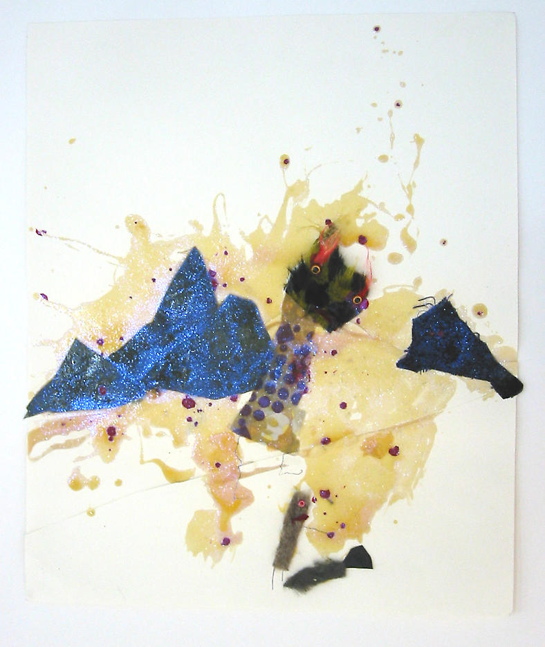 Untitled							 2002 mixed media on paper 18 x 21.25 inches/45.7 x 54 cm