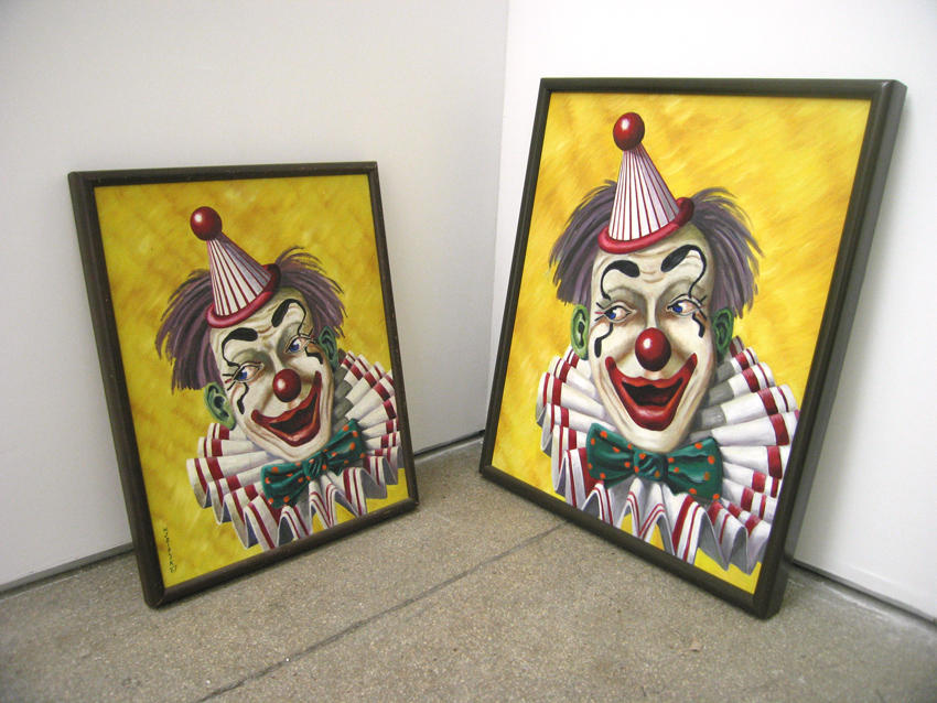 Bremen Towne - Clown Diptych 1967, 2007 2008 oil on canvas, hardwood frames diptych: 26.5 x 21 inches/21.25 x 17.25 x inches