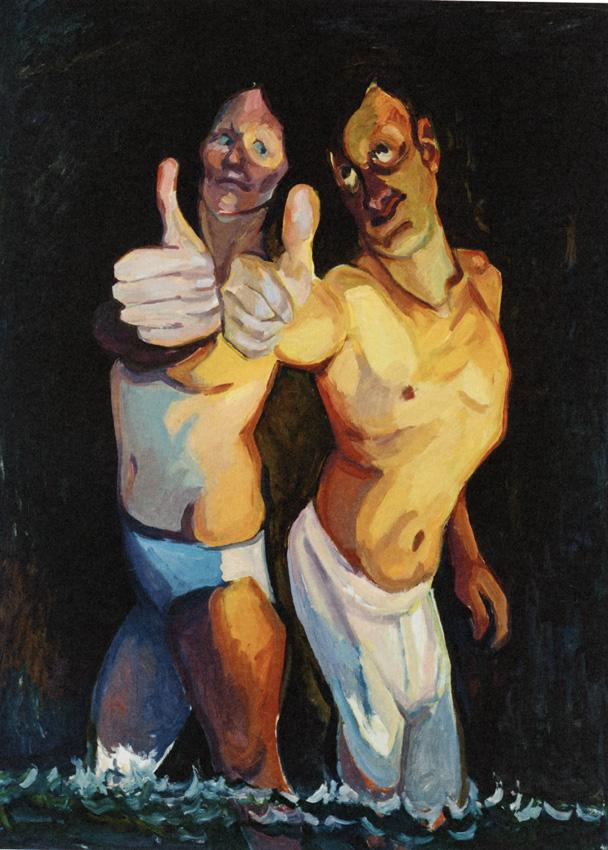 <i>Optimisten/Optimists</i> 2009 Oil on canvas 78.74 x 59.06 inches