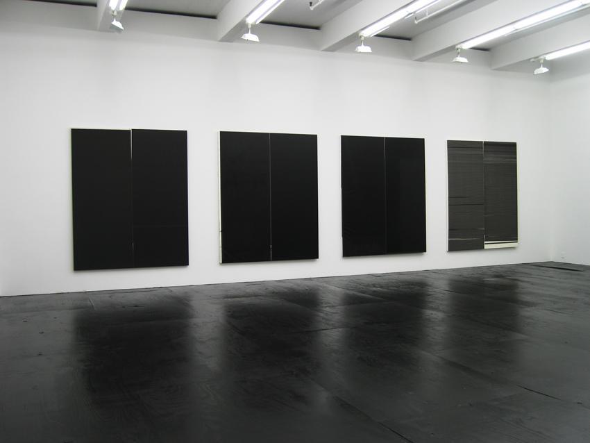 Wade Guyton Installation view Friedrich Petzel Gallery 2007