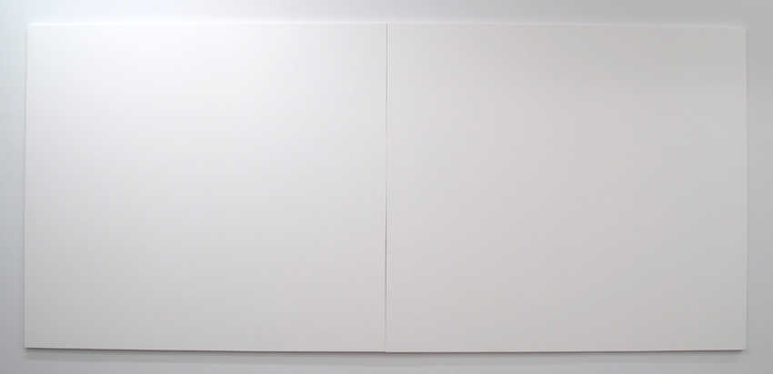 Heimo Zobernig Untitled 1993 Preprimed canvas and wood 96 x 214 x 1 5/8 inches (overall)