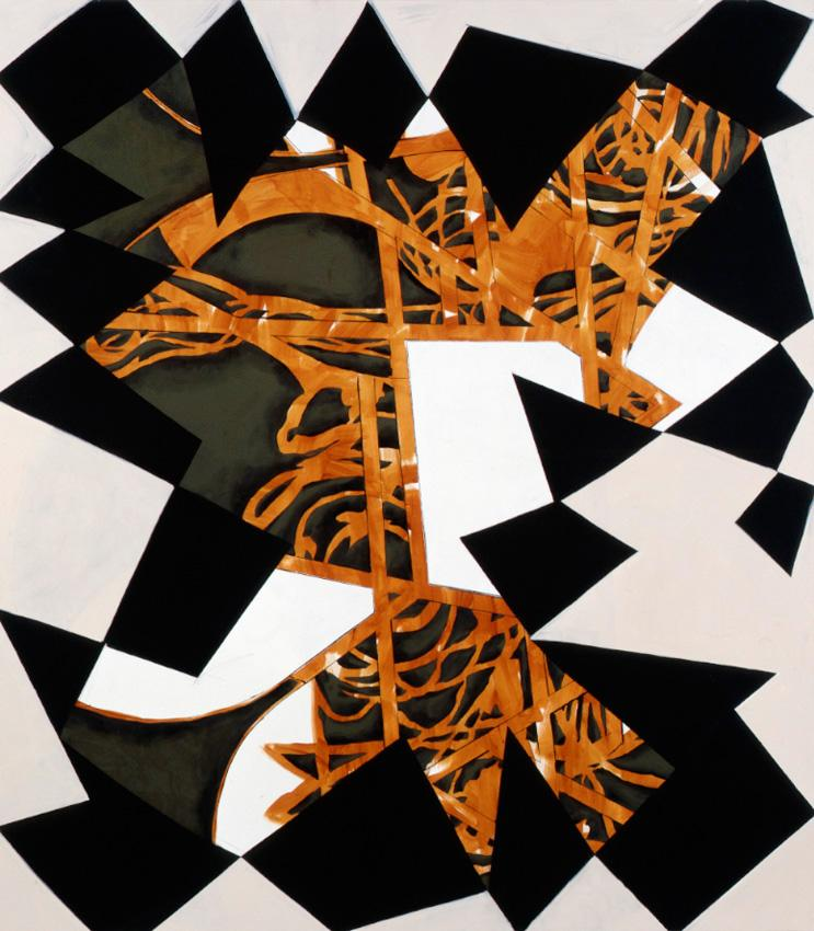 <i>Black Mirror #2</i> 2009 Acrylic and oil on linen 82 x 72 inches