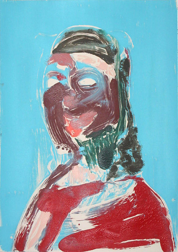 Portrait Head #2 2002					 acrylic on paper 20 x 14 inches/50.8 x 35.6 cm